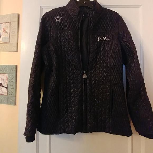huge selection of 7959d 74c84 Brand new Dallas cowboys black bubble jacket NWT